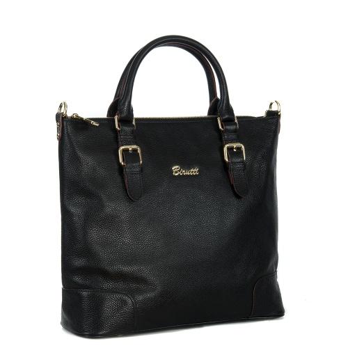 Большая кожаная женская сумка.  Очень удобный формат сумки- мешка, которая будет уместна и в офисе, и на.